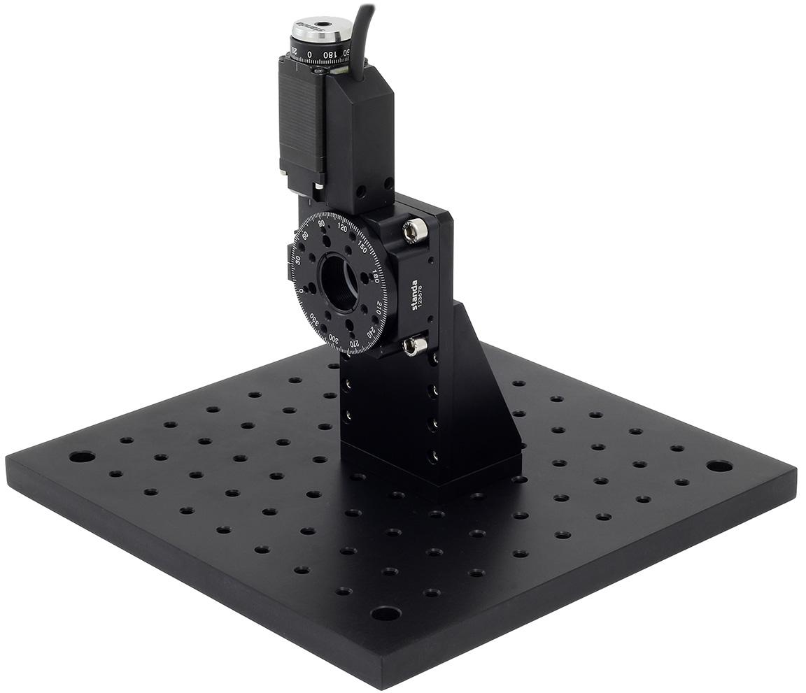 8MR151 Rotation Stage Mounted on 2AB151-002 Angle Bracket