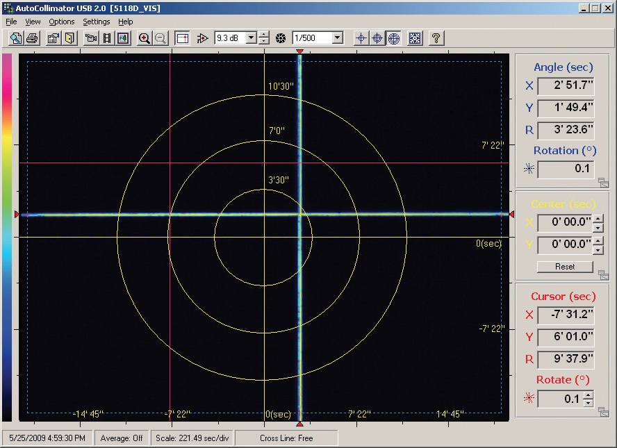 Electronic Autocollimator Light Test Amp Measurement