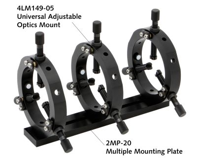 Multiple mount plate 2MP in use