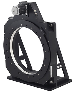 Vertical Mounting Example of Rotary Table with Large Aperture