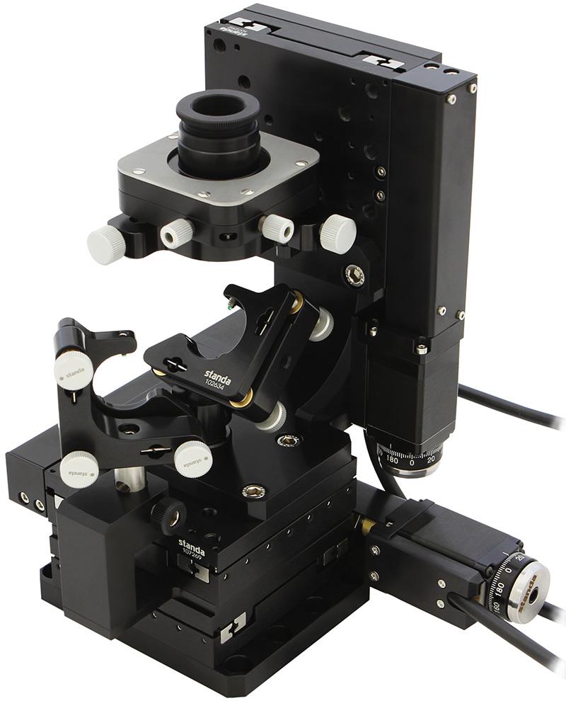 Automated XYZ System for Microscope Objetives