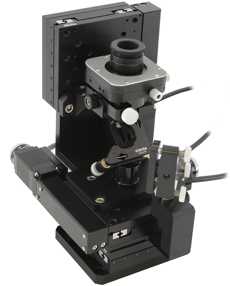 Microscope Objective Alignment XYZ stage
