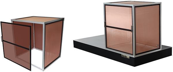 Faraday Enclosure Mounted on Optical Table